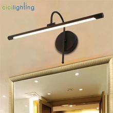 Silver Black LED Modern Vanity Light ,Aluminum wall picture lamp for Bathroom Vanity Lighting Fixtures 3000K 6000K Cool White