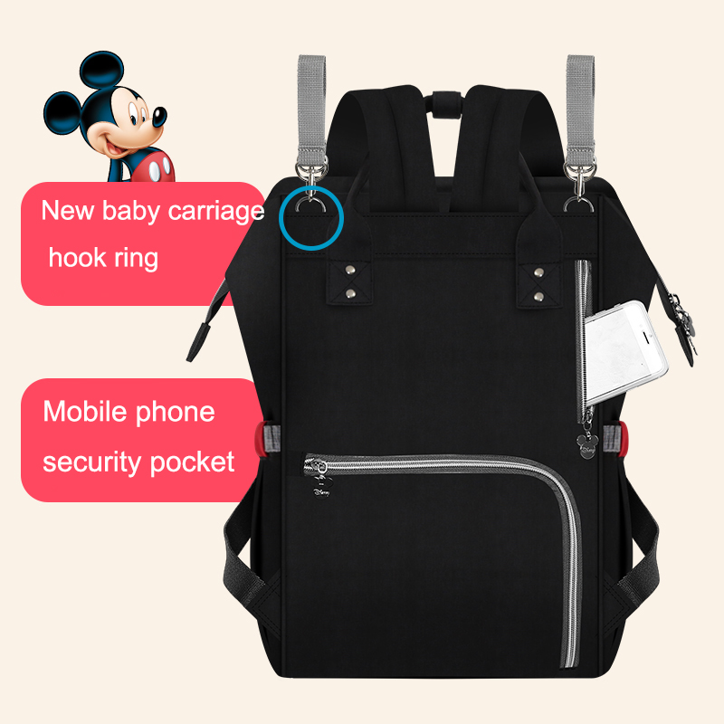 Disney Cartoon Diaper Bag With USB Minnie Mickey Big Capacity Travel Oxford Feeding Baby Mummy Handbag Stroller Bag Baby Huge