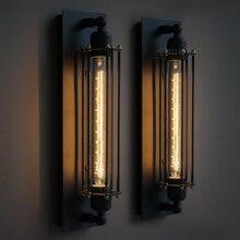Американский стиль лофт светодиодный настенный светильник Железный