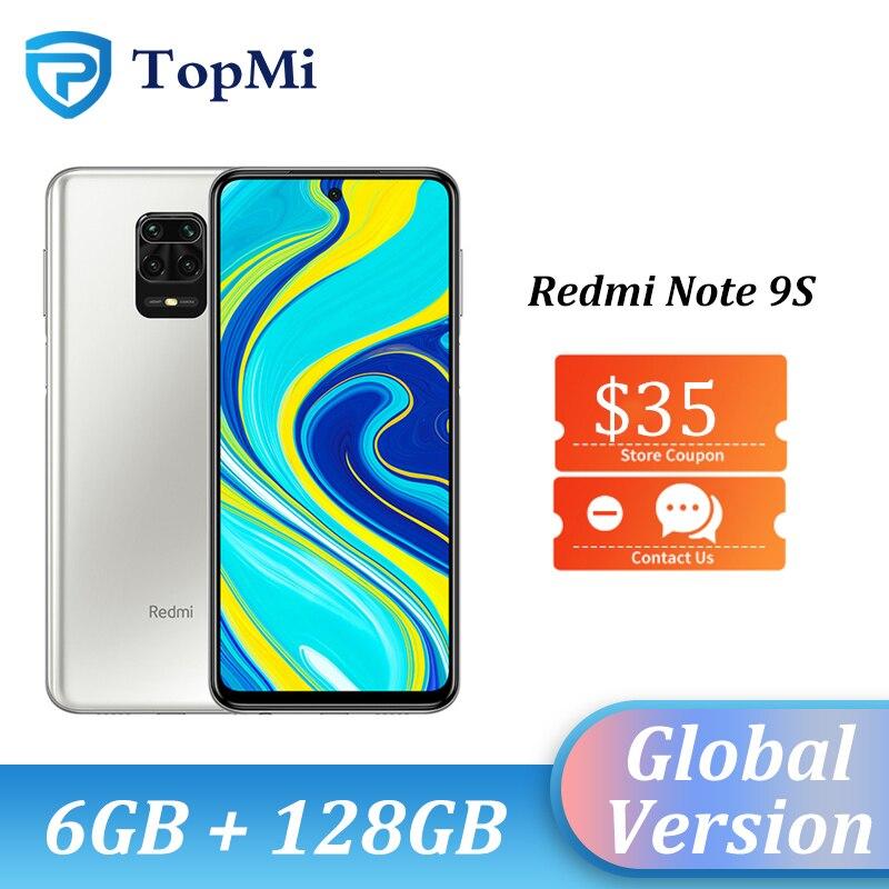 "2020 In Stock Global Version Xiaomi Redmi Note 9S 6GB RAM 128GB ROM Smartphone Snapdragon 720G 48MP Rear Camera 6.67"" DotDisplay(China)"