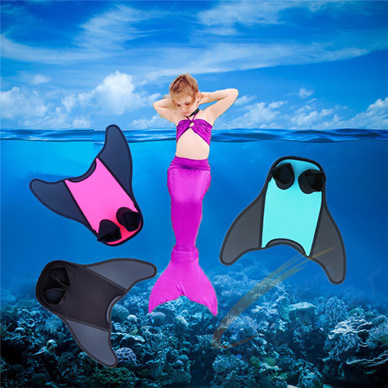 Foot Fins Swimming Fins Mermaid Tail Diving Flippers Submersible Snorkeling Adult/Child Flexible Comfort Water Sports Portable