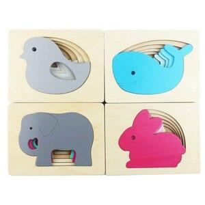 3D Wooden Cartoon Rabbit / Bir