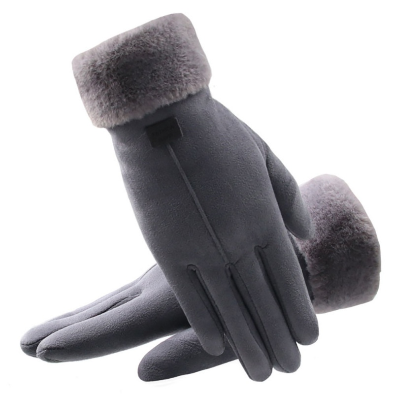 2019 New Winter Outdoor Riding Party Windproof Cold Warm Gloves Classic Plus Velvet Suede Ladies Gloves