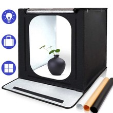 40cm LED Light Box Portable Photo Tent Lightbox 16 inch Folding Photo Studio Softbox for Product Jewelry Toy Photography Shoot