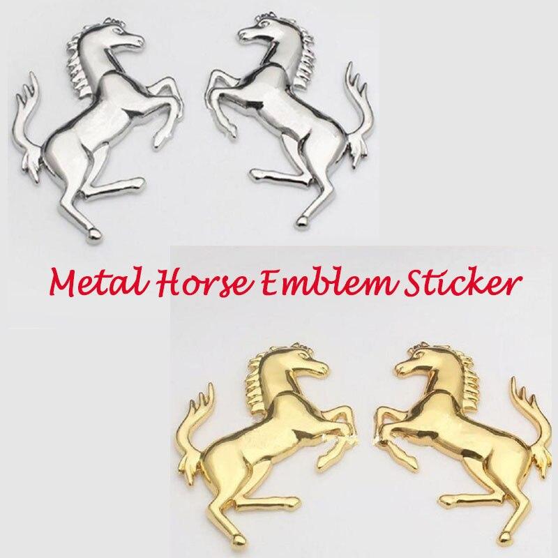3D Logo en alliage de Zinc en métal cheval emblème autocollant badge emblème décalcomanie pour Ford Ferrari voiture fenêtre pare-chocs carrosserie autocollant voiture-style