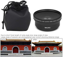 0.43X HD Super Wide Angle Lens W/มาโครสำหรับNikon D3400 D3500 D5600 D7500กล้องW/AF P DX NIKKOR 18 55มม.F/3.5 5.6G VR