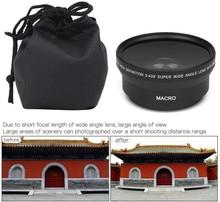 0.43X HD süper geniş açı Lens w/makro Nikon D3400 D3500 D5600 D7500 kamera w/ AF P DX NIKKOR 18 55mm f/3.5 5.6G VR Lens