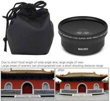 0.43X Hd Super Groothoek Lens W/Macro Voor Nikon D3400 D3500 D5600 D7500 Camera W/AF P Dx nikkor 18 55Mm F/3.5 5.6G Vr Lens
