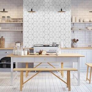 Image 4 - Funlife Tile Sticker Kitchen Backsplash Wall Sticker Self Adhesive Mosaic Tiles Bathroom Waterproof DIY Nordic Modern Home Decor