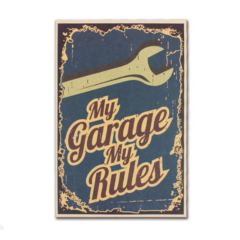 My Office My Rules Decor Vintage Kraft Paper Classic Movie Poster Map School Wall Office Decoration Art Retro Prints