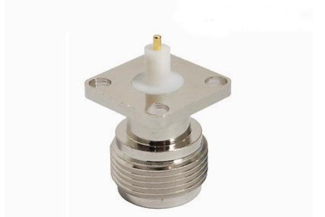 50pcs N KFD 5 N Female Jack Panel Mount RF Coax Connector Flange Solder Nickelplated