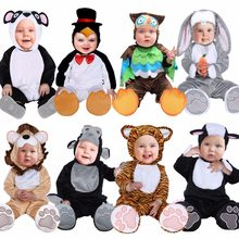 Umorden Halloween Costumes Toddler Infant Baby Animals Tiger Lion Panda Bunny Owl Penguin Costume Cosplay for Baby Girl Boy(China)