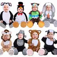 Umorden Halloween Kostuums Peuter Baby Baby Dieren Tijger Leeuw Panda Bunny Uil Pinguïn Kostuum Cosplay voor Baby Meisje Jongen