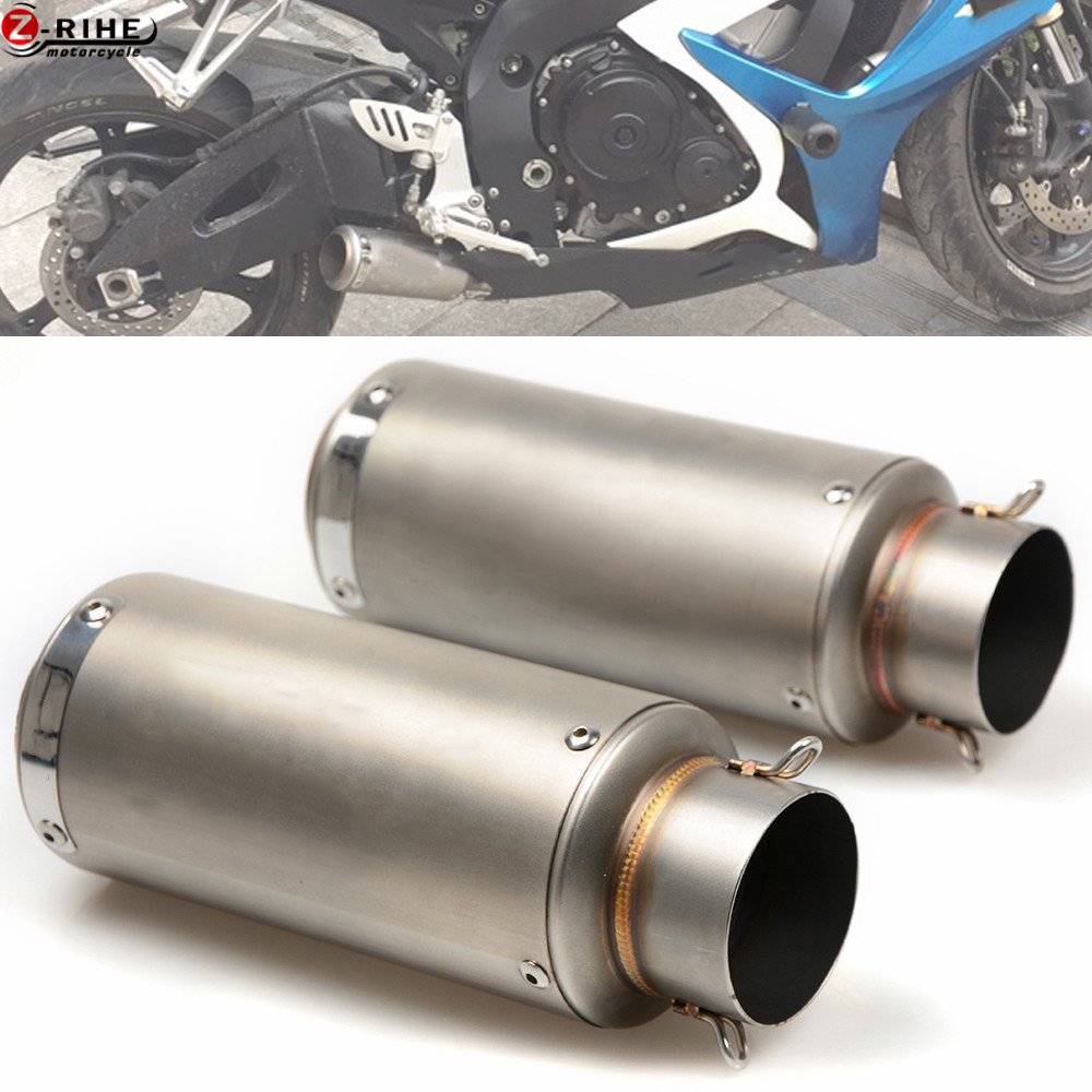 Motorcycle Accessories Exhaust Carbon Motorbike Exhaust Pipes Bike Muffler for Kawasaki ZZR600 ZX6R ZX636R ZX6RR ZX 9R 10R Z1000
