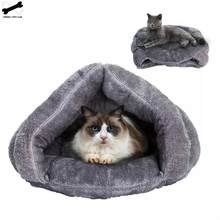 Winter Warm Triangle House Cat Ultra Soft Pet Kennel uniwersalna mata dla psa wysokiej jakości wiatroodporna podkładka gruba śpiwór jurta Nest(China)