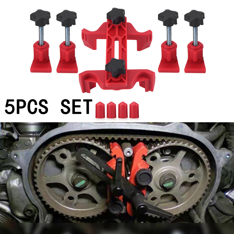 Auto Cam Lock Tools Camshaft Holder Timing Pulley Fixing Red Accessories Parts