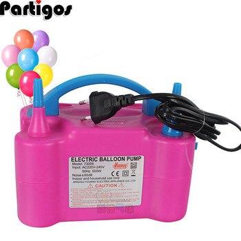 цена на 220V/110V Electric Balloon Inflator Pump AC Plug Double Hole Nozzle Air Compressor Inflatable Electric Balloon Pump Air Blower