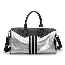 Romher Sport Bag For women Gym Womens Men Waterproof PU Travel Fitness Bags Large Capacity Handbags