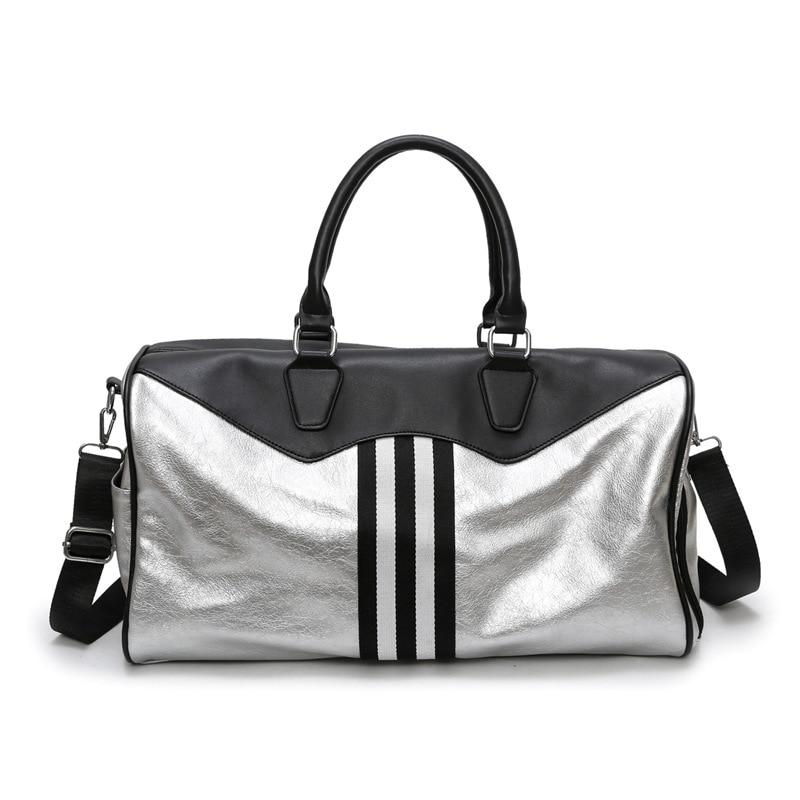 Romher sac de Sport pour femmes sac de Sport femmes hommes imperméable PU voyage Sport sacs de Fitness grande capacité voyage sacs à main