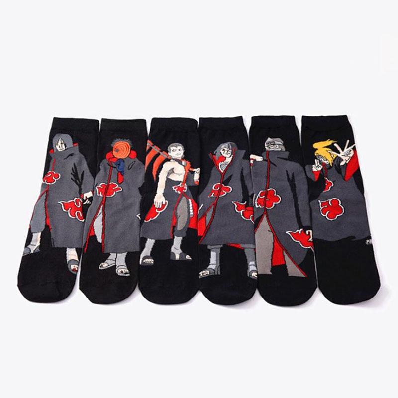 1 Pair Cool Naruto Akatsuki Cosplay Props Sock Uchiha Itachi Orochimaru Anime Spring Autumn Socks Women Men Plush Toys Gifts
