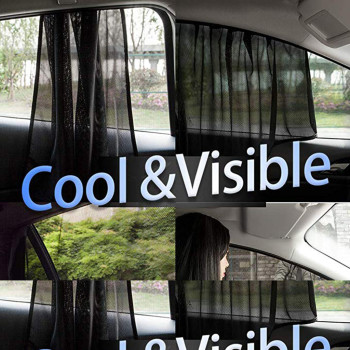 40^1pc Car Rear Window Sun Shade UV Mesh Sun Shades Blind Kids Children Sunshade Blocker Black for cars dropship image