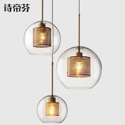 Nordic lampen industrieel oprawa suspendu żelazna restauracja deco maison hanglamp Wiszące lampki Lampy i oświetlenie -
