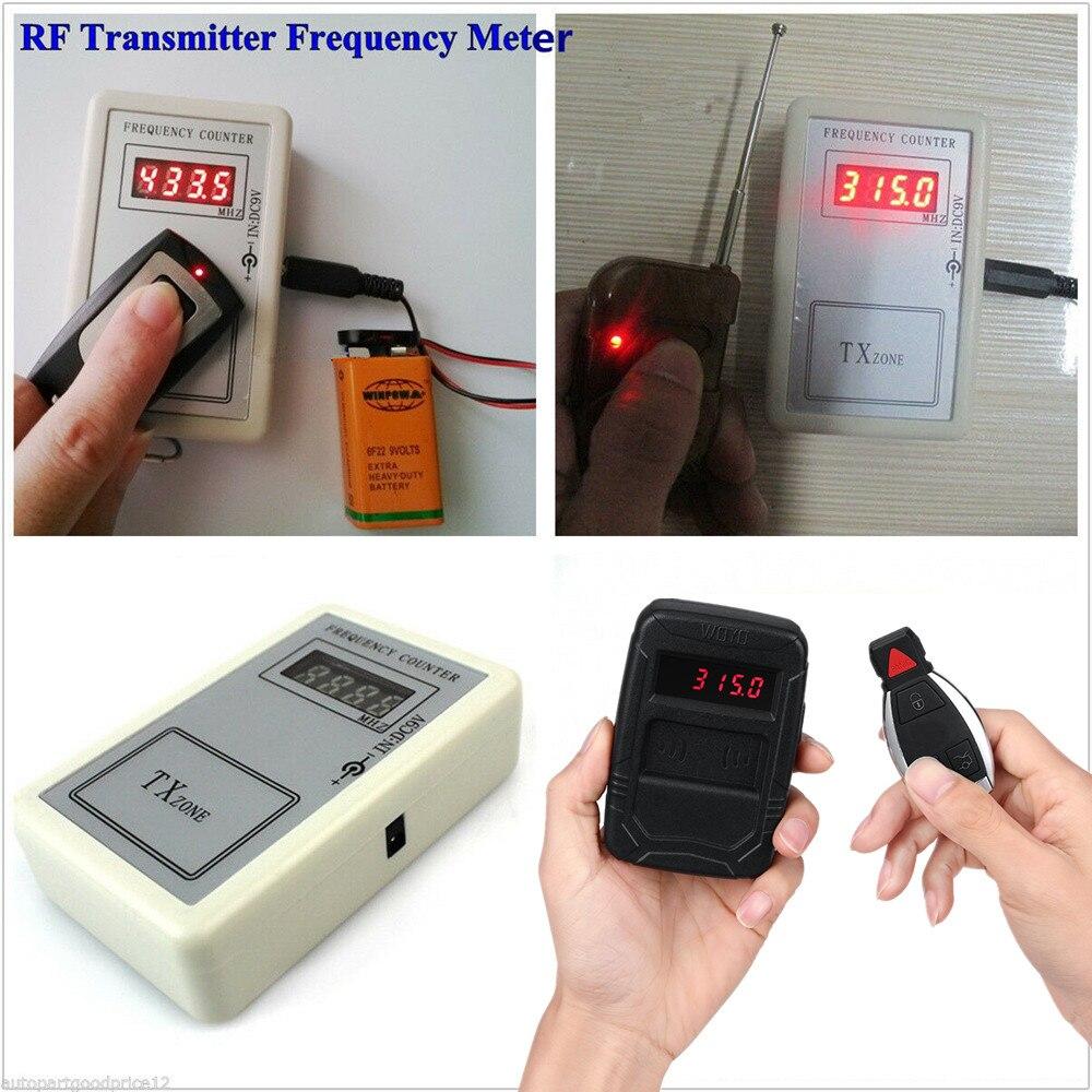 Портативный пульт Управление частотомер 250-1000 МГц RF передатчик счетчик для дистанционного ключа автомобиля частотомер, частота Тесты детек...