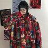 QWEEK Harajuku Red Print Sweatshirt Women Long Sleeve Kpop Hoodie Women Gothic Streetwear Hoodies Emo Hoodie Vintage Pullover 3
