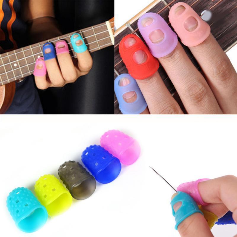 Ukuleles Guitar Finger Guard Finger Tip Thumb Covers Silicone Case For Ukulele Guitar Strings Ukulele Finger Set Press String
