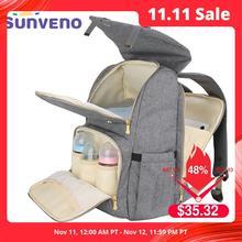 SUNVENO modna torba na pieluchy mamusia torba na pieluchy macierzyńskie o dużej pojemności plecak podróżny torba na pieluchy dla opieka nad dzieckiem