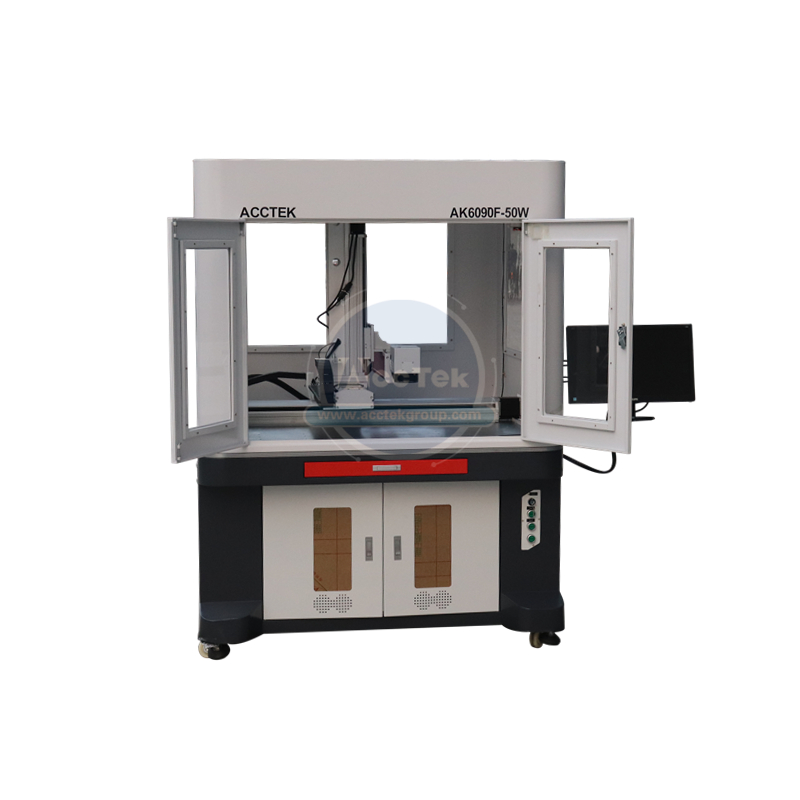 Raycus Rotary Axis Included 30W 20W 50W CNC Fiber Laser Marking Machine Fiber Laser Marking Machine