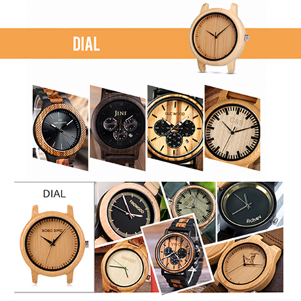 Engraving Personality Creative Design Logo & MESSAGE Engraved Laser Bamboo Wooden Sunglasses Watch Customization Items Fee