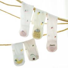 Летние тонкие носки для новорожденных хлопковые до колена маленьких