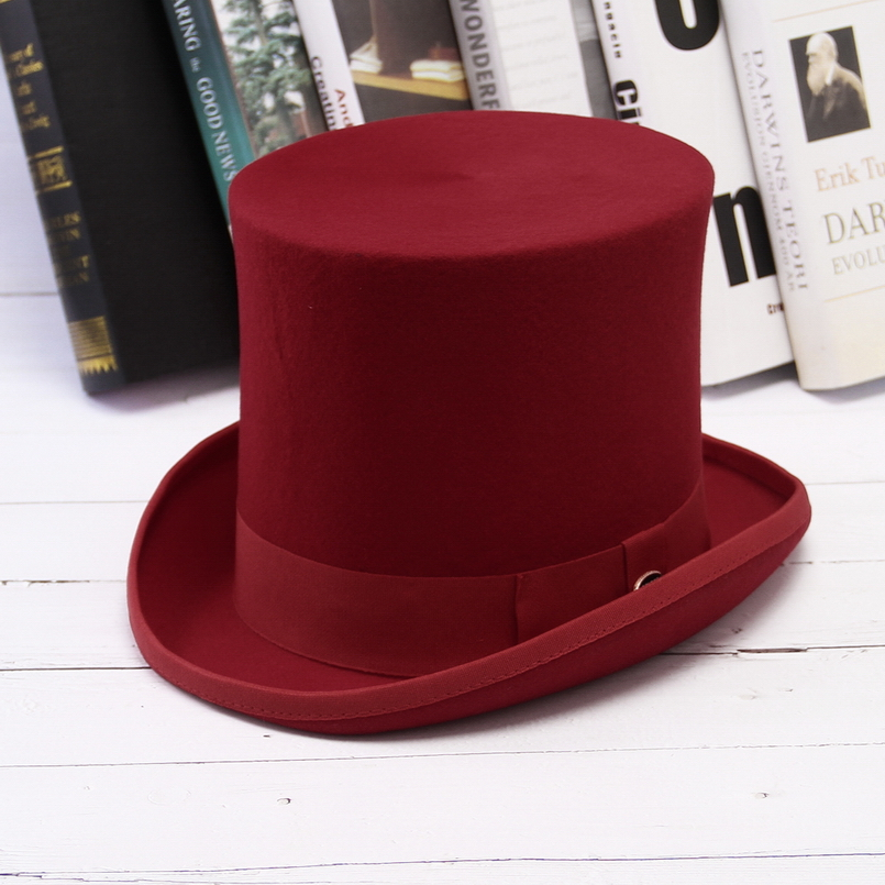 D/&H Unisex Ladies//Gents Event 100/% Wool Hand Made RED TOP Felt HAT!!!