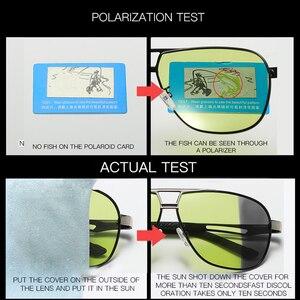 Image 2 - 2020 جديد فوتوكروميك النظارات الشمسية الاستقطاب يوم للرؤية الليلية الألومنيوم الرجال سائق الأصفر الذكور نظارات للقيادة oculos دي سول