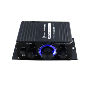 Image 1 - AK170 12V MINI Audio Powerเครื่องขยายเสียงเครื่องเสียงดิจิตอลReceiver AMP Dual Channel 20W + 20W BASS TREBLE volume Controlสำหรับรถบ้านใช้