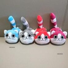 Милый 10 см, 4 цвета, кот игрушки животных, плюшевые чучела брелок игрушка кукла