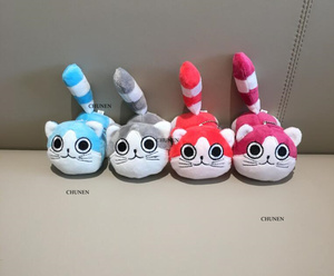 Sweet New 10CM , 4Colors , Cat Animal Toys , Plush Stuffed key chain TOY Doll(China)