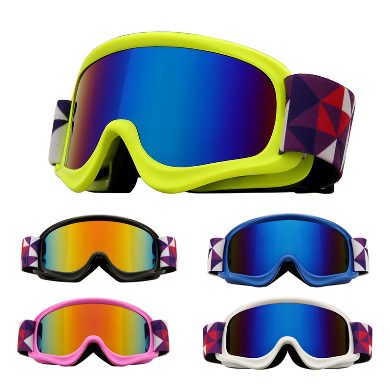 Детские лыжные очки двойные противотуманные UV400 детские лыжные очки снежные очки для спорта на открытом воздухе для девочек и мальчиков сно...