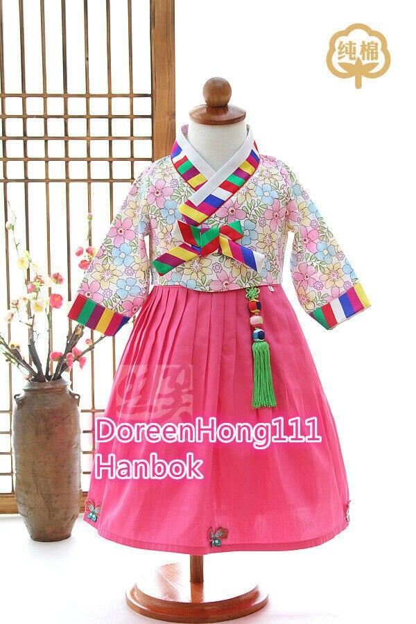 Korean Tradtional Girl Hanbok Dress Fushion Hanbok Modern Party Hanbok Dolbok  Korean Dress