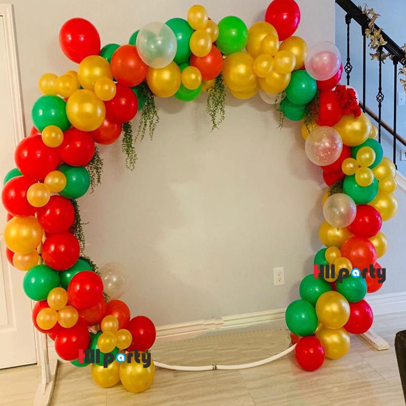 115Pcs Diy Red Green Balloons Garland Arch Kit Pearl Gold <font><b>18Th</b></font> <font><b>Birthday</b></font> <font><b>Decoration</b></font> Party Anniversaire Supplies Babyshower Boy image
