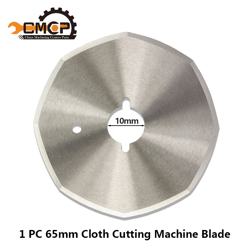 1pc Daimeter 65mm HSS Fabric Cutting Knife High Speed Steel Cutter Blade Cloth Cutting Machine Blade Saw Cutting Disc