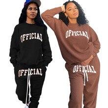 Women Clothing Tracksuit Joggers Matching-Sets Two-Piece-Set Wholesale Plus-Size Winter
