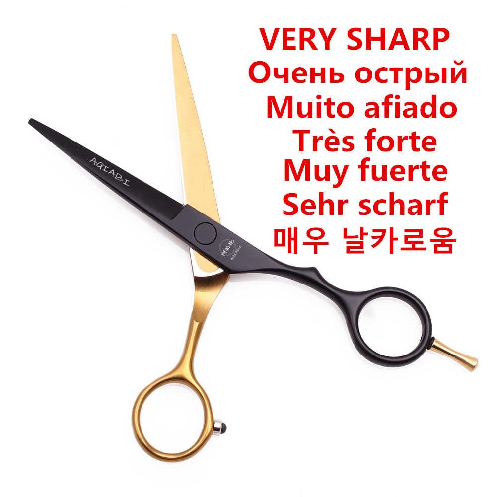 """5.5"""" aqiabi jp 440c barbershop tesouras cabelereiro tesoura de cabeleireiro acessório tesoura de desbaste profissional Cisalhamento dentário barbearia barbeiro kit barbeiro a1029"""