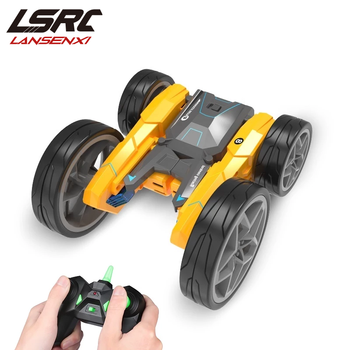 1/28 RC car 360du Degree Rolling Double Sided High Speed Rotating Stunt Car Cool Headlights Anti Skid Tire Children's Toy Car