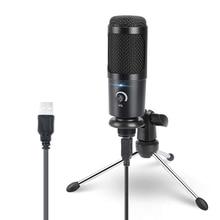Bm 800 용 컴퓨터 가라오케 스튜디오 마이크 용 USB 콘덴서 마이크 YouTube Gaming Recording mic with Stand Shock Mount