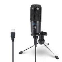 USB kondenser mikrofon bilgisayar Karaoke stüdyo mikrofonu için bm 800 YouTube oyun kayıt mikrofon standı ile şok dağı