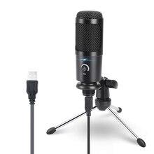 USB הקבל מיקרופון עבור מחשב קריוקי סטודיו מיקרופון עבור bm 800 YouTube משחקים הקלטת מיקרופון עם מעמד הלם הר