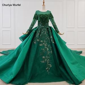 Image 1 - HTL1165 女性イブニングドレス o ネックアップリケスパンコールパターンの房の高級長袖新イブニングドレス vestidos デ · フェスタロンゴ