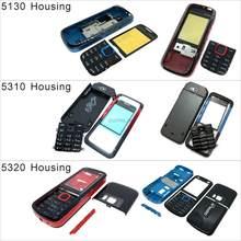 Pour Nokia c5-00 5130 5530 5320 boîtier façade avant cadre housse + couvercle arrière/batterie porte couvercle + clavier